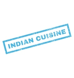 Indian Cuisine Rubber Stamp vector