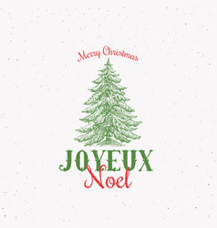 Joyeux noel abstract retro label sign or vector