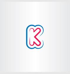 K letter logo logotype symbol element line vector