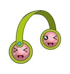 Kawaii cartoon headset vector
