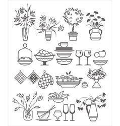 kitchen stuff10 vector image