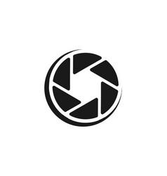 Lens camera icon logo designs inspiration vector