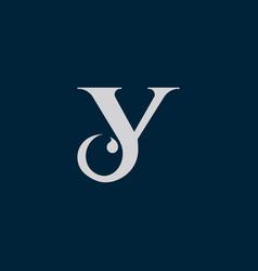 letter y c icon logo vector image