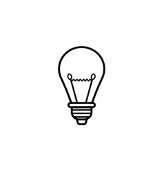 light lamp line icon education business element vector image