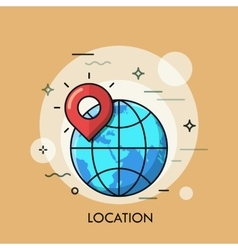 Location Icon logo line flat design vector image vector image