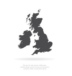 map great britain isolated vector image