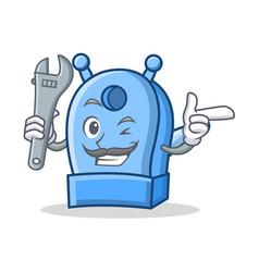 Mechanic pencil sharpener character cartoon vector