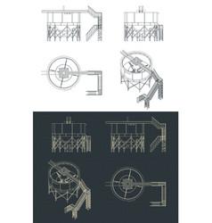 mining thickener tank blueprints vector image