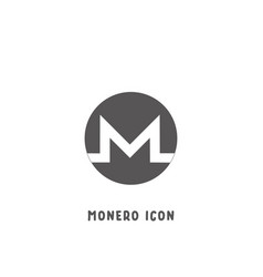 monero cryptocurrency icon simple flat style vector image
