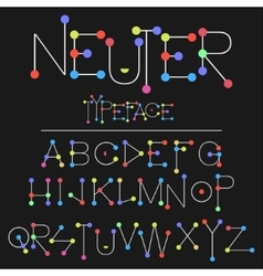 Neuter modern flat font made with dots good for vector image