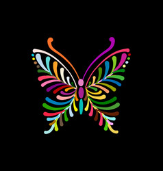 Ornate colorful butterfly for your design vector