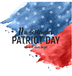 Patriot day usa poster backgroundseptember 11 we vector