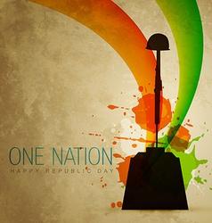 Patriotic indian flag vector