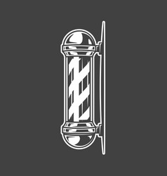 Pole isolated on black background vector