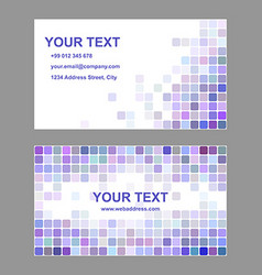 Purple colorful business card template design vector image