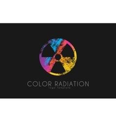 Radiation logo color design creative vector
