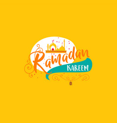 ramadan kareem - handmade template isolated vector image