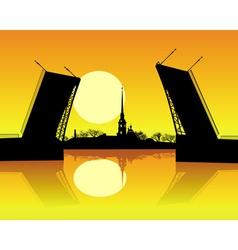 Sankt Petersburg orange vector image