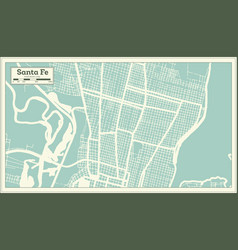 Santa fe argentina city map in retro style vector
