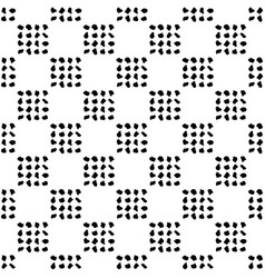 Seamless pattern black white geometric dotted vector