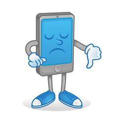 Smartphone show thumb down vector