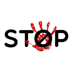 stop bulling sign vector image