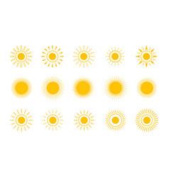 sun shapes sun icon set stock vector image