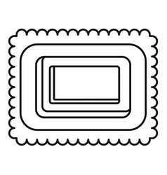 sweet bakery icon outline style vector image