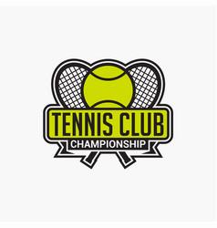 Tennis club badge logo-8 vector