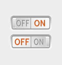 Toggle swith buttons on and off vector