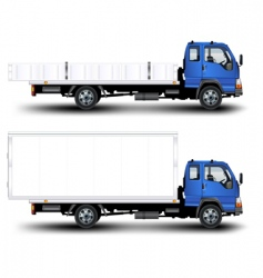 trailer vector image