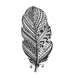 Tribal feather vector image