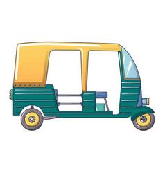 Tuk taxi icon cartoon style vector