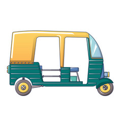 Tuk tuk taxi icon cartoon style vector