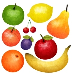 Watercolor Ripe Fruit Set vector