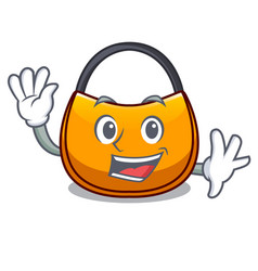 Waving beautifully hobo bag on character funny vector