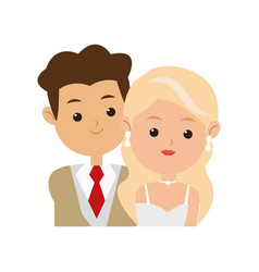 Wedding couple icon vector