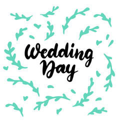 wedding day postcard vector image