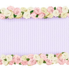 Wedding flower frame vector
