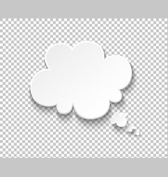 white paper speech bubble blank thought balloons vector image