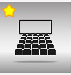 cinema black icon button logo symbol vector image vector image