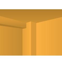 Corner walls vector image vector image