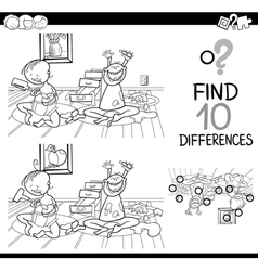 difference game for coloring vector image vector image