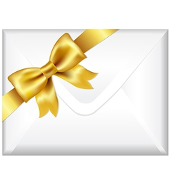 Envelope With Golden Bow vector image