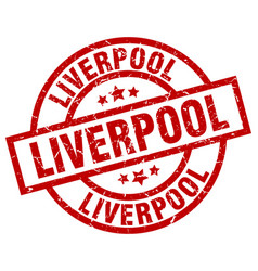 liverpool red round grunge stamp vector image