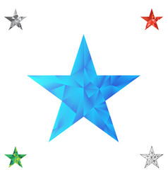 polygonal star background vector image