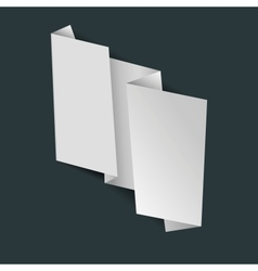 abstract white origami banner vector image vector image