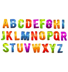 Alphabet 3D Text vector image