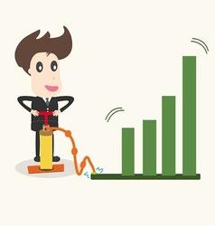 businessman make a chart going upbusiness idea vector image