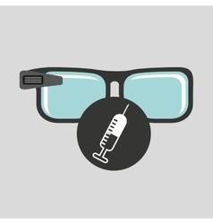 Digital glasses wifi medical vaccination vector